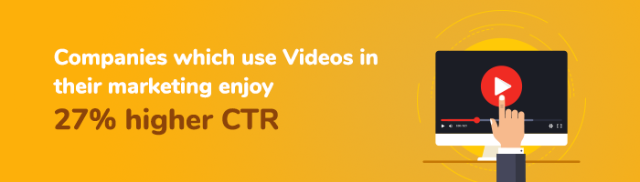 companies which use videos for their campaign enjoys higher ctc