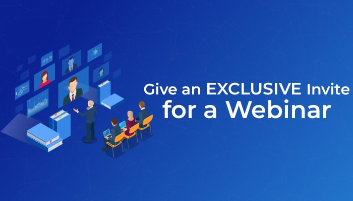 webinar invite on conversion landing page