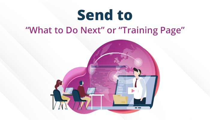 send to training page