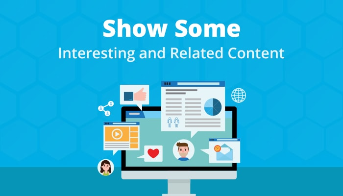 show related content on post conversion landing page