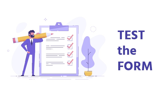 Landing page test forms for AB testing