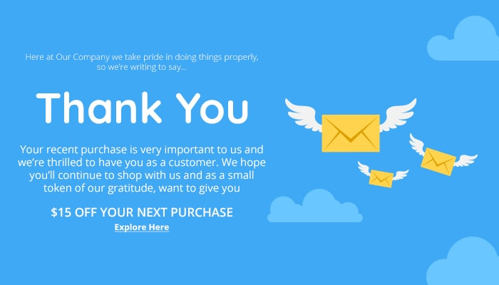 send thank you emails with marketing automation