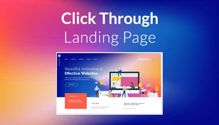click through landing page