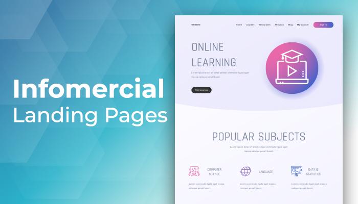 infomercial landing page